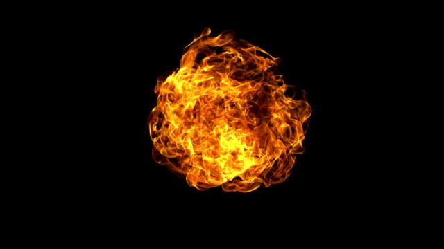 Fire ball explosion, Slow Motion video
