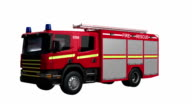 Fire Engine EU spin isolated with luma matte video