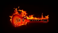 Fire guitar video