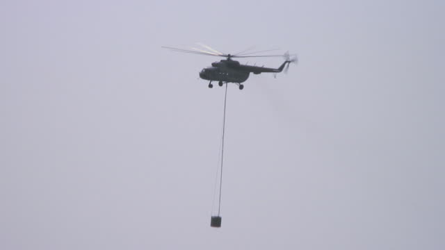 Fire helicopter video