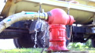 Fire Hydrant with Water Flowing video
