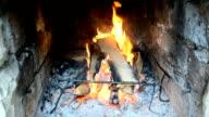 Fire in a brazier video