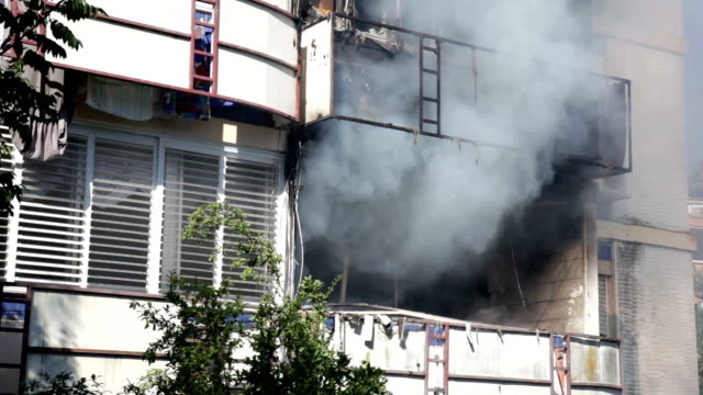 Fire in apartment video