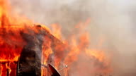 fire in wooden house video