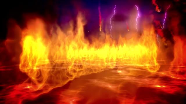 Fire inferno loop video