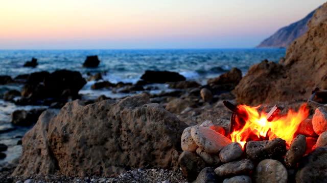 Fire on the Beach video