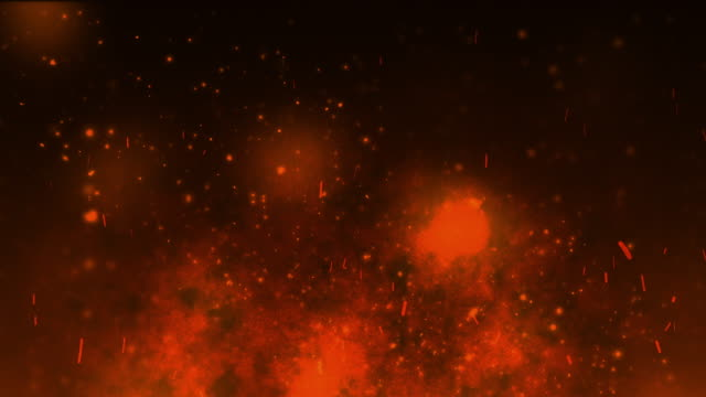 fire particle background video