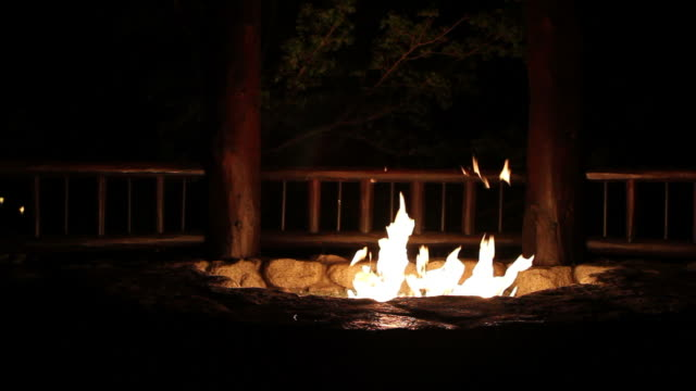 Fire Pit Burning video