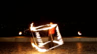 Fire show in the dark video
