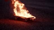 fire skateboard video