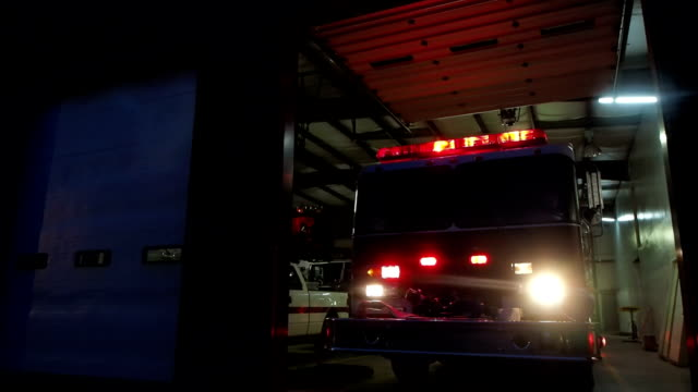 Fire Truck At Fire Station video