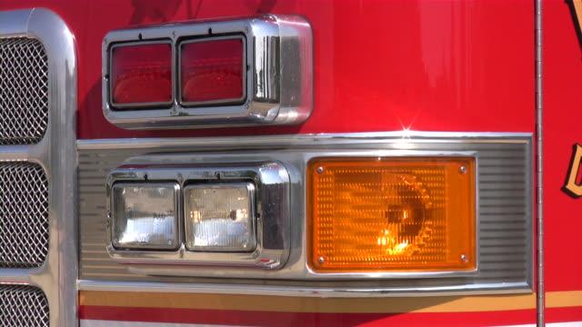Fire truck on emergency site. video