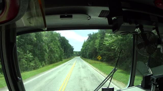 fire truck on road video