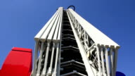 Fire-engine with fire escape staircase video