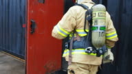 Firefighter gaining entry video