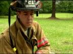 Fireman close up video