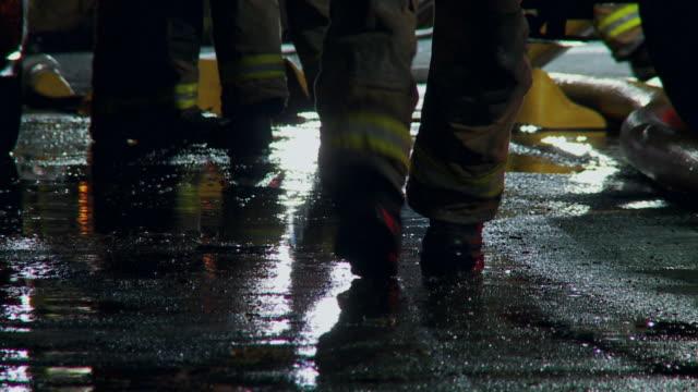Firemen Feet Silhouette 01 video
