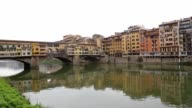 Firence Italy river bridges and Houses video