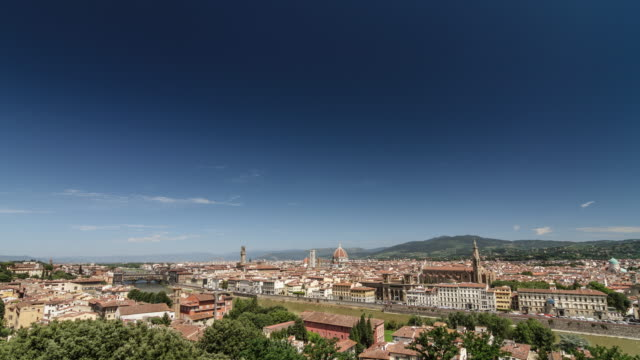Firenze skyline on a summer sunny day video