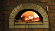 Fireplace, burning fire - loopable video