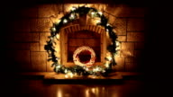 Fireplace With Christmas Decorations, Christmas Ornament video