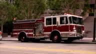 Firetruck at scene HD 25FPS video