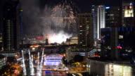 Firework at singapore city video