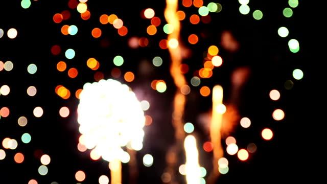 Firework Bokeh Full HD Video video