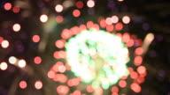 Firework Bokeh video