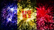 firework display flag of Andorra video