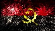 firework display flag of Angola video