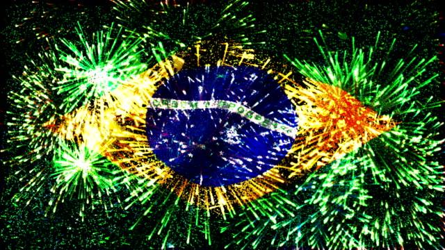 firework display flag of brazil video
