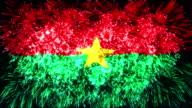 firework display flag of Burkina Faso video