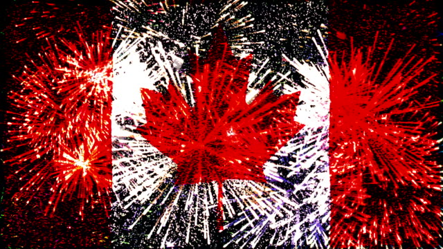 firework display flag of canada video