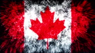 firework display flag of canada video
