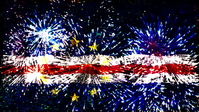 firework display flag of cape verde video