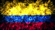 firework display flag of colombia video