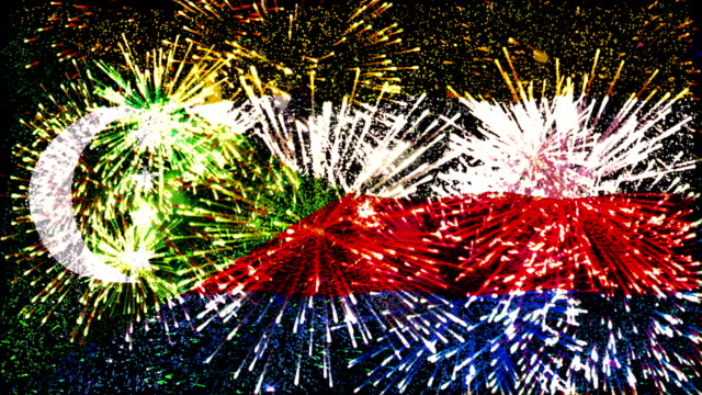 firework display flag of comoros video