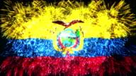 firework display flag of Ecuador video