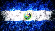 firework display flag of El Salvador video