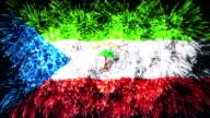 firework display flag of Equatorial Guinea video