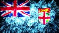 firework display flag of Fiji video