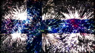firework display flag of Finland video