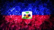firework display flag of Haiti video