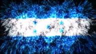 firework display flag of Honduras video