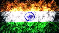 firework display flag of India video