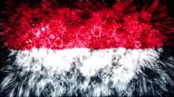 firework display flag of Indonesia video