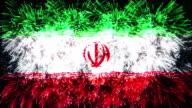 firework display flag of Iran video