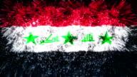 firework display flag of Iraq video