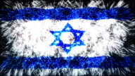 firework display flag of Israel video